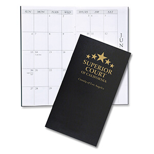 Item: 1612 - Monthly Pocket Planner - Leatherette