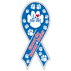 MG22310 - Screen Printed Paw Magnetic Auto Ribbons